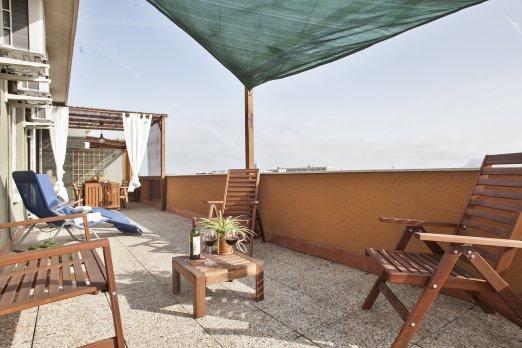 Sunny apt with huge terrace @beach - Barcelona